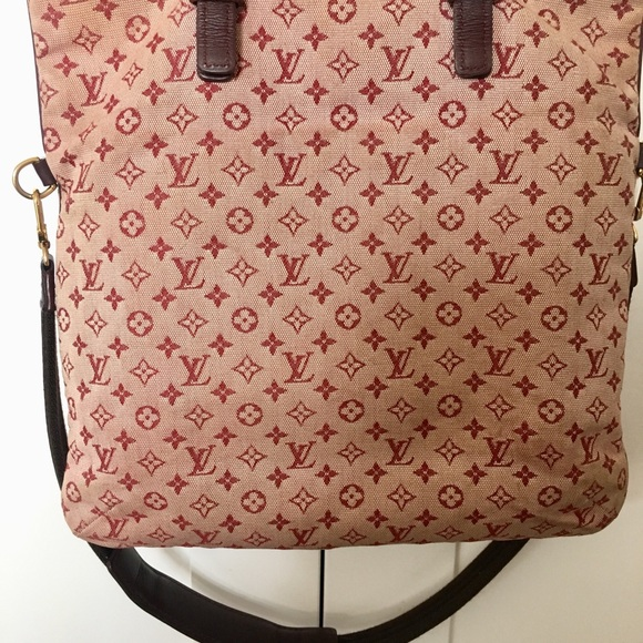 3b29af9c19b Louis Vuitton Handbags - Authentic Louis Vuitton Mini Lin cherry red